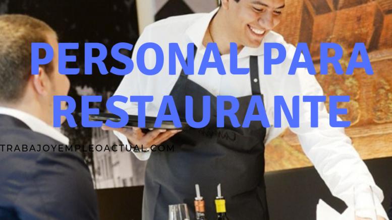 personal para restaurante